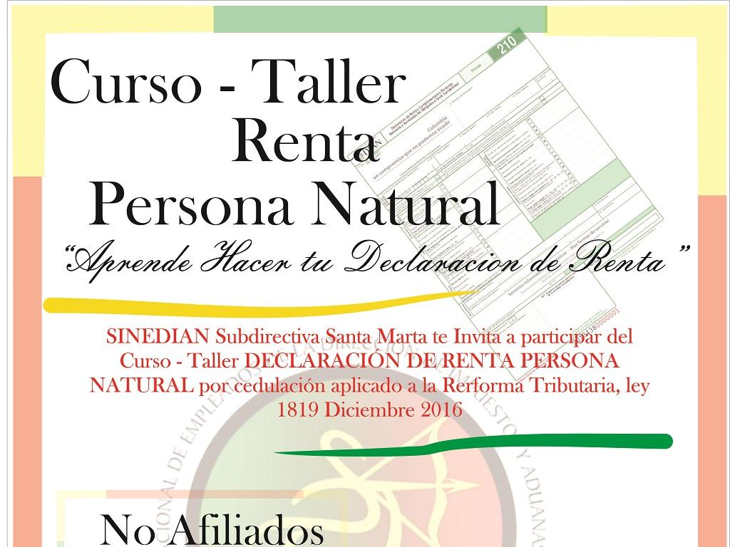 Taller Declaración de Renta Persona Natural