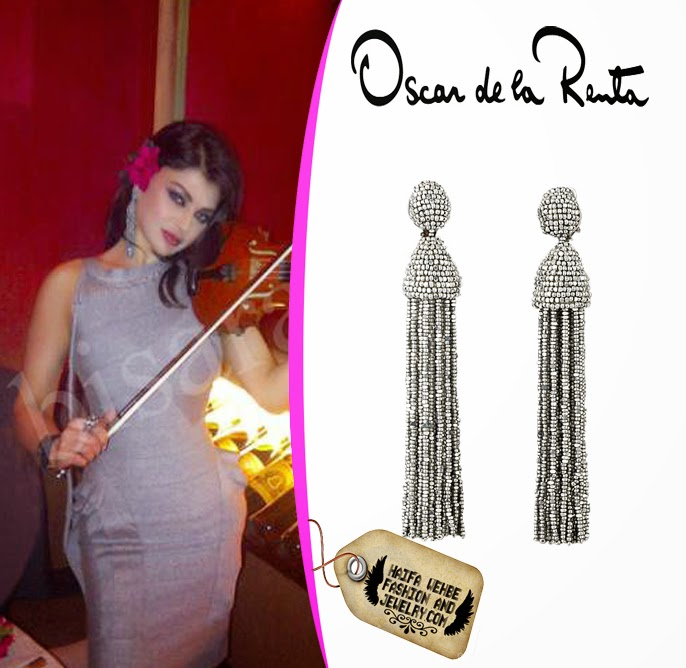 Haifa Wehbe Fashion And Jewelry Haifa Wehbe Wearing Silver Beaded