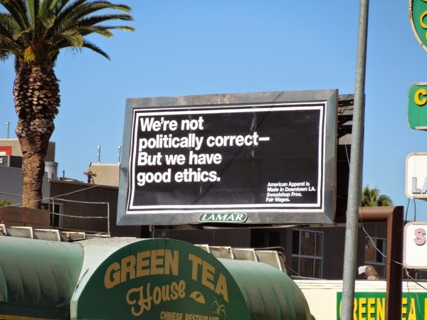 Not politically correct American Apparel billboard