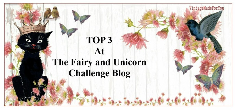 Top 3 Winner at The Fairy and Unicorn Challenge Blog