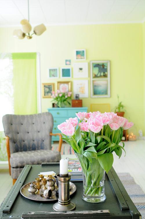Decoracao De Sala Verde ~ Cortina Verde para Sala – Modelo e Tecido # decoracao de sala verde