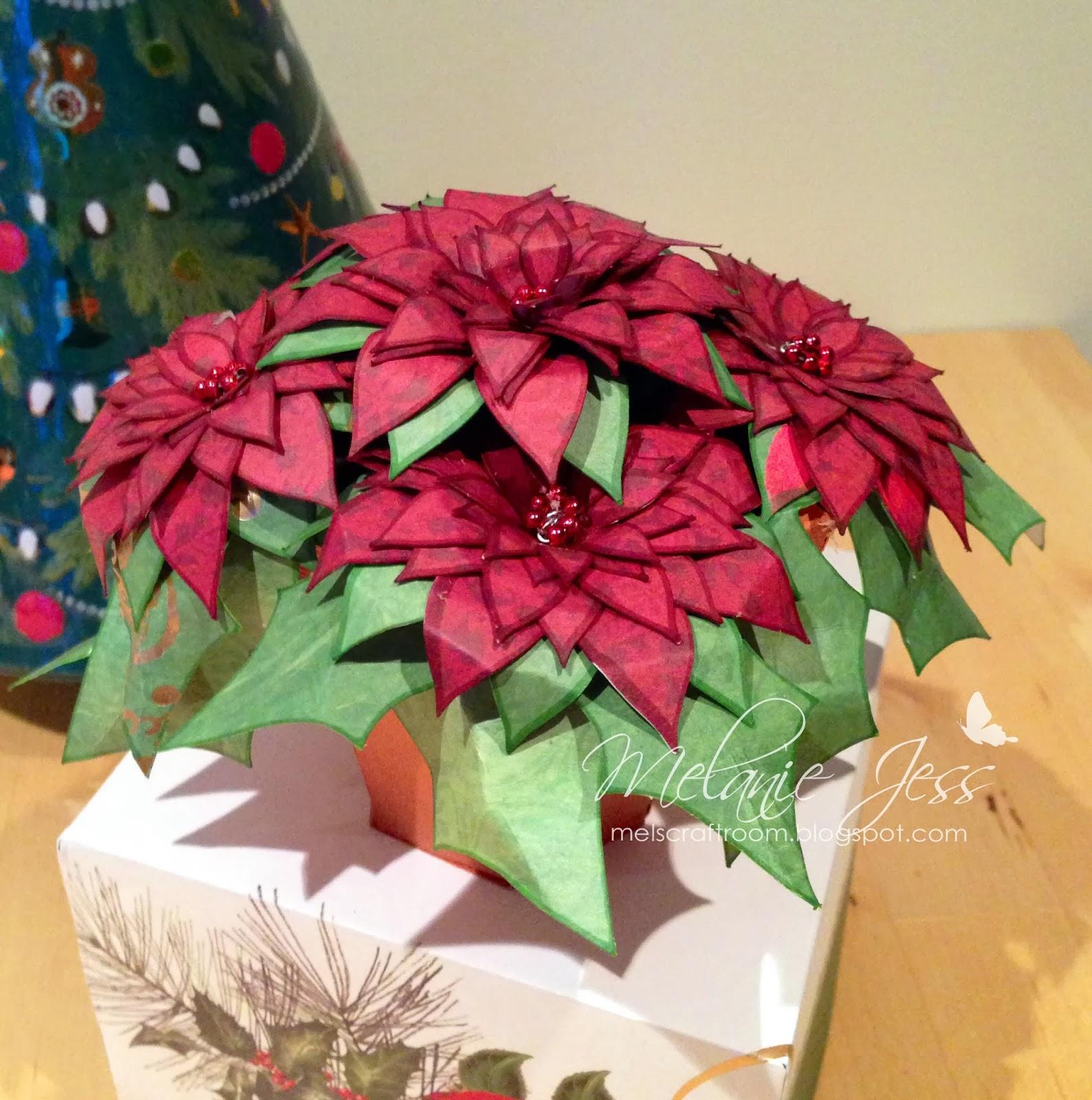 Mel Jess Designs Potted Poinsettia Xx