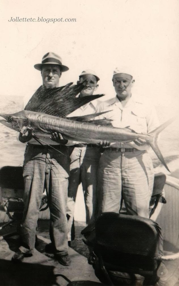 Thom, Bonney, Slade fishing July 10, 1951