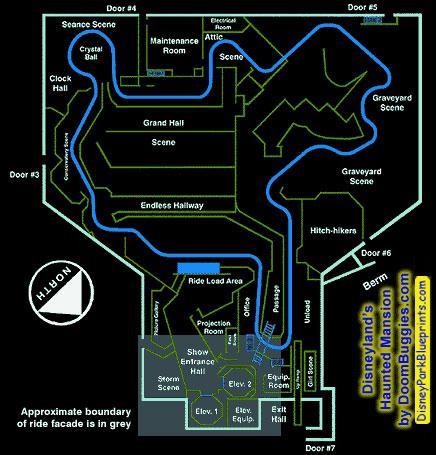 Disney Park Blueprints Haunted Mansion Disneyland Ca Usa