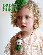 on the cover of Papier Mache isue 2