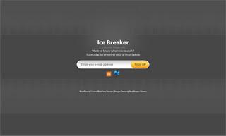 Ice Breaker Gray Blogger Template