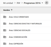 Programas de estudio 2016