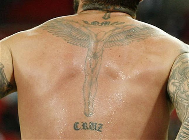 David Beckham Angel Body Tattoo