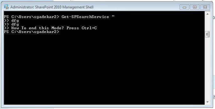 Come out of Powershell Edit prompt (Ctrl+C)
