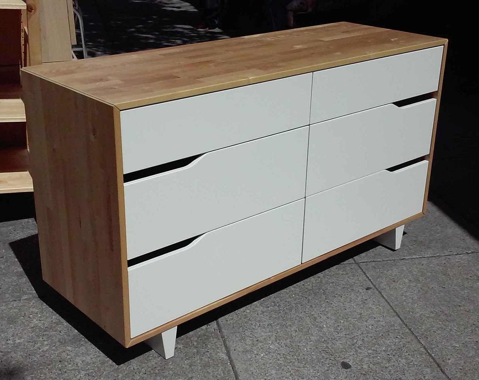 Flächenvorhang Raumteiler Ikea ~   FURNITURE & COLLECTIBLES SOLD Ikea Mandal 6 Drawer Dresser  $95