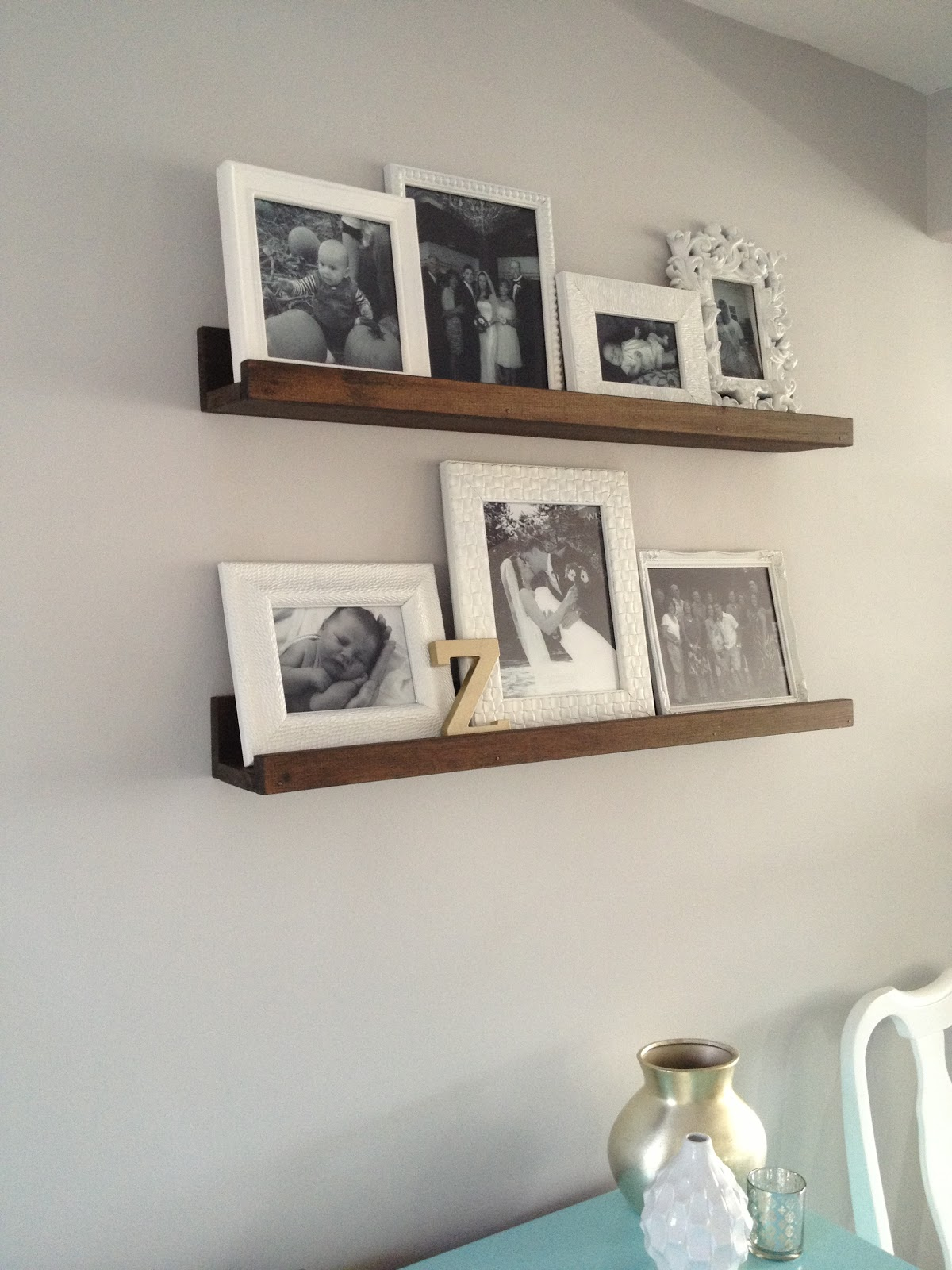 Retro ranch reno diy wood shelves for How to decorate living room shelves