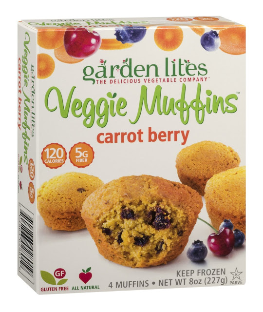Garden Lite's Carrot Berry and Blueberry Oat Muffins