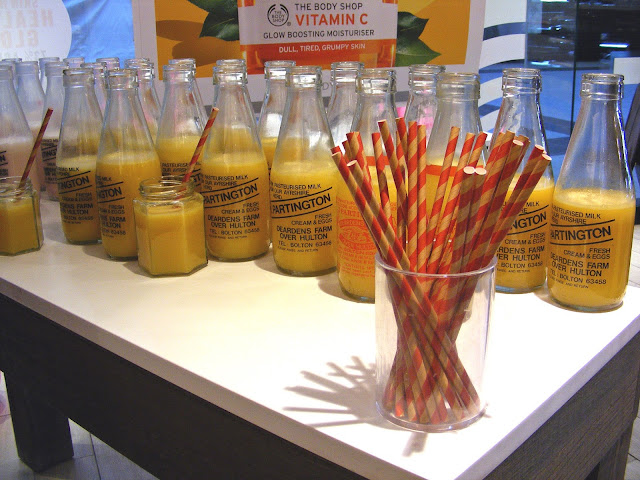 Orange juice jars