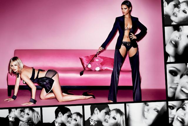 Rihanna Kate Moss hot photo shoot