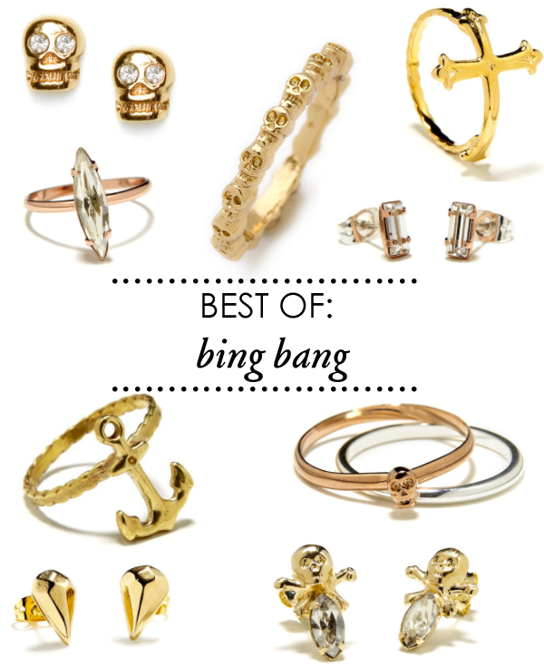 bing bang, gold skull jewelry