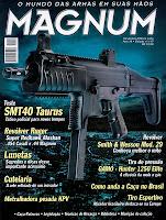 Capa da edição da revista Magnum SMT40 Taurus e Revólver Ruger - edição 117