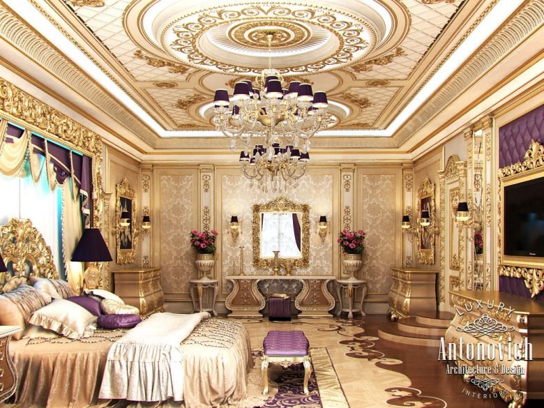 Luxury antonovich design uae master bedroom in classic style for Classic furniture uae
