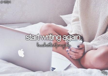 recommencer à écrire