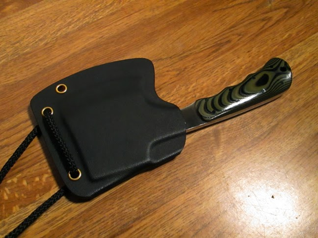 the Kydex cover on the yurco hatchet