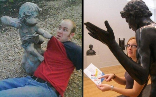 00-Kaneda-Funny-Photographs-with-Statues-and-Sculptures-www-designstack-co