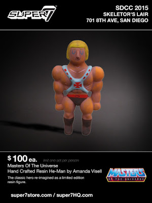 San Diego Comic-Con 2015 Exclusive Masters of the Universe He-Man Resin Figure by Amanda Visell x Super7