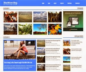 BlueWave Mag Blogger Template