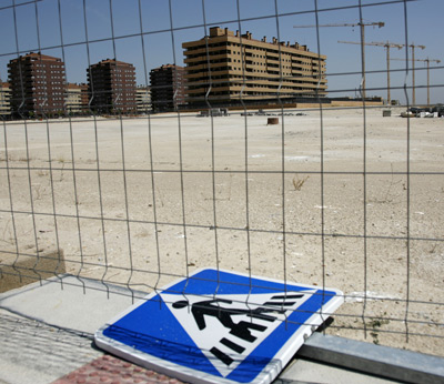symbol of Spain's housing crisis with rising eviction rates