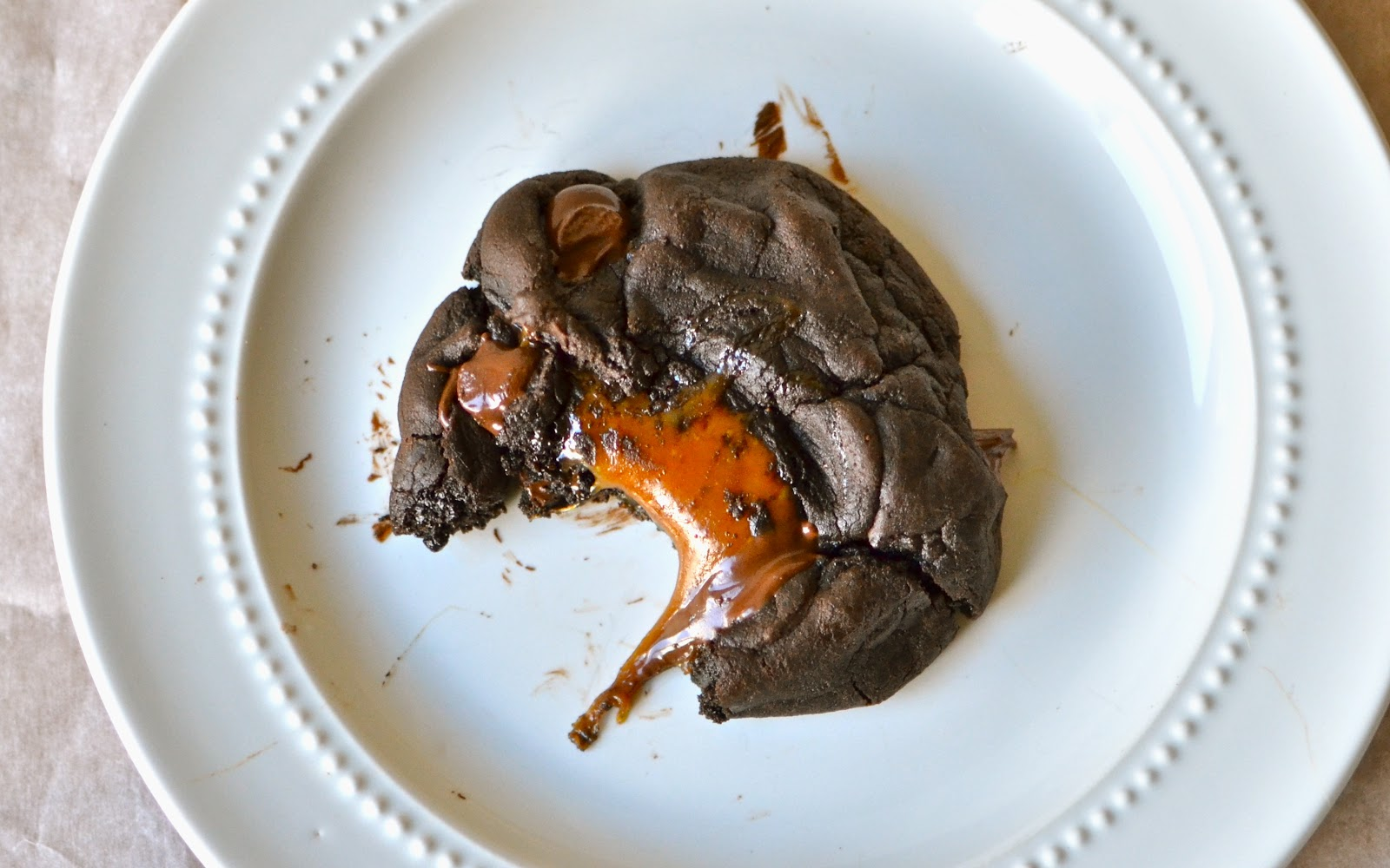 ... chunks of chocolate. Look at those gooey, buttery, swirls of caramel