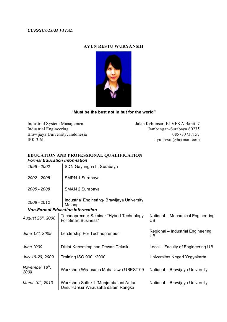 Curriculum Vitae Bahasa Indonesia Doc Taichi Md