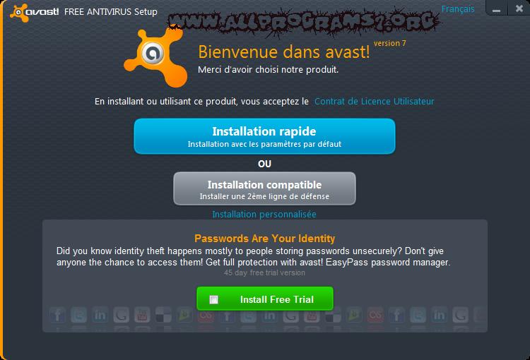avast free antivirus francais
