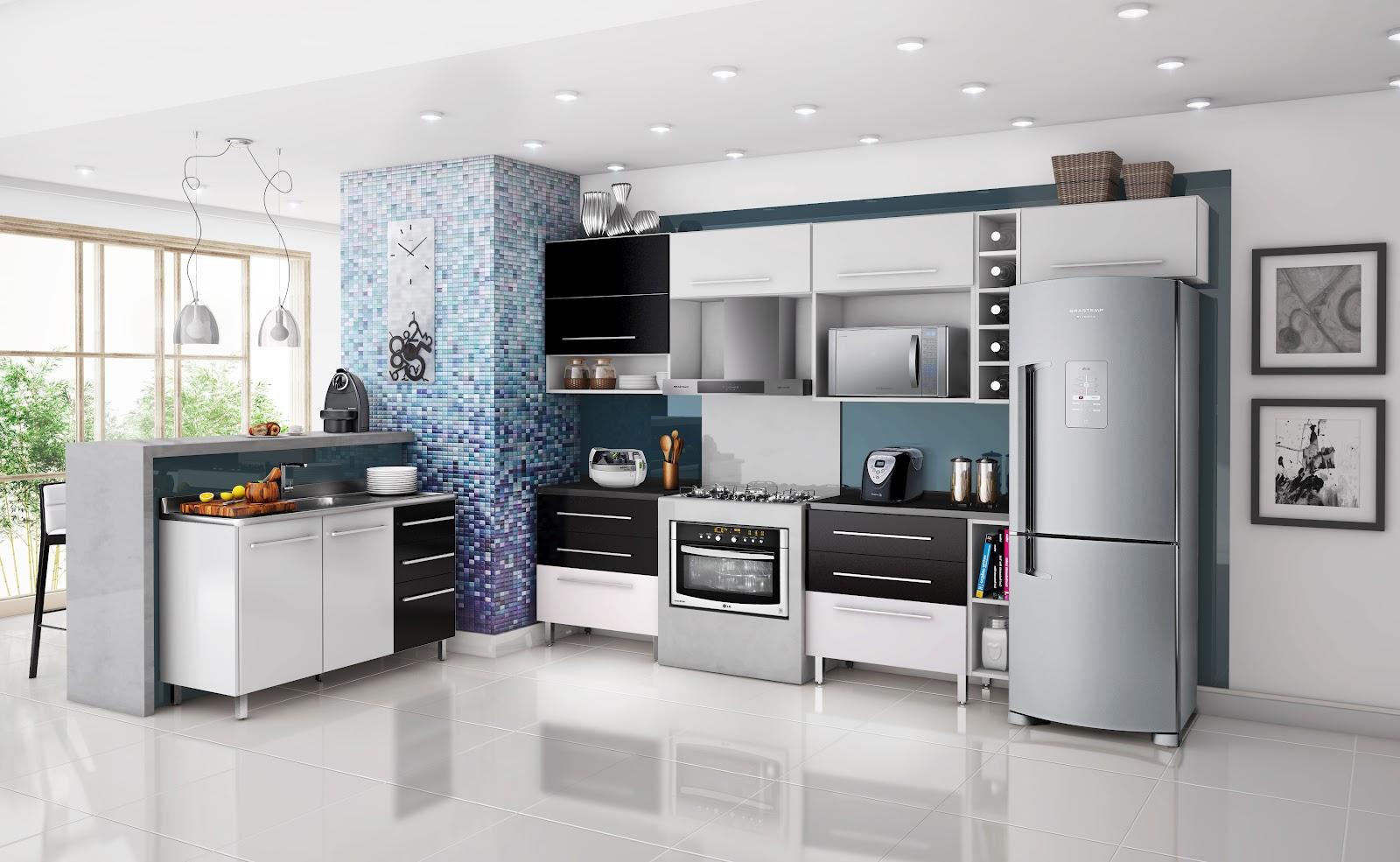 Armarios de cozinha casas bahia : Wibamp armario de cozinha preto e branco nas casas
