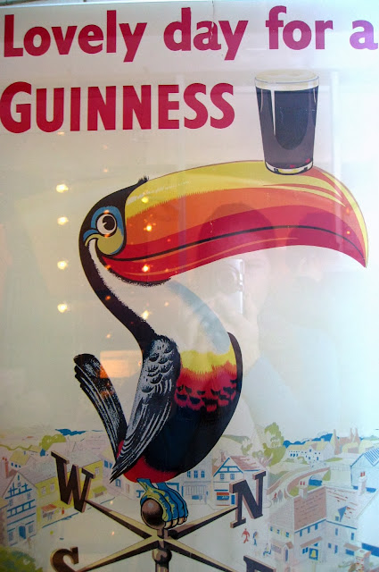'Lovely day for a Guiness' toucan poster