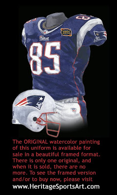 New England Patriots 2003 uniform