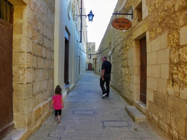 Calles de la Ciudadela en Gozo