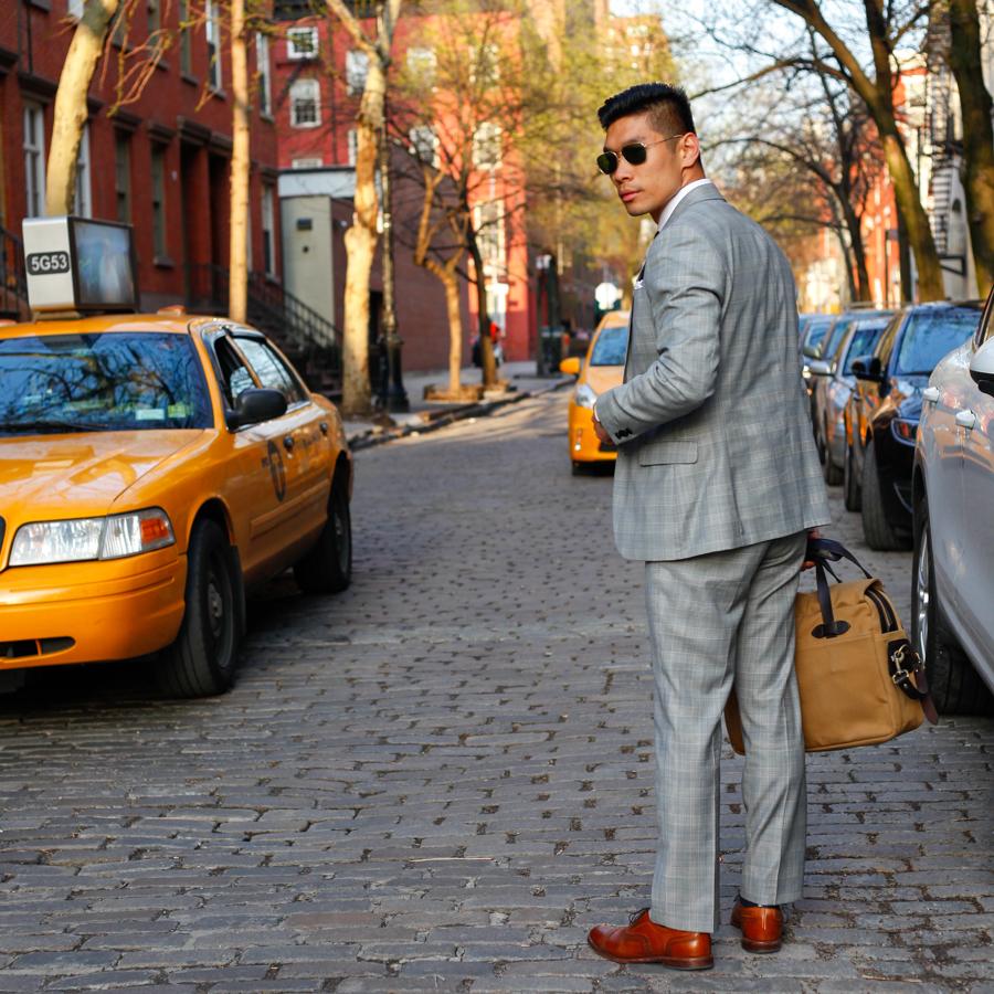 Levitate Style - American Classic, Express Three Piece Suit Two Looks    Allen Edmonds, Filson Briefcase