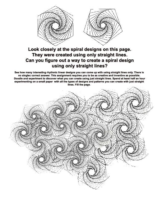 The Helpful Art Teacher THE SPIRAL – Printable Art Worksheets