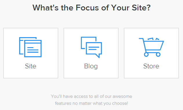 select blog or website