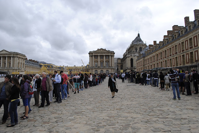 Lines at Versailles, France