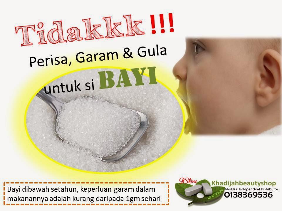Bayi tidak perlu ambik garam dan gula