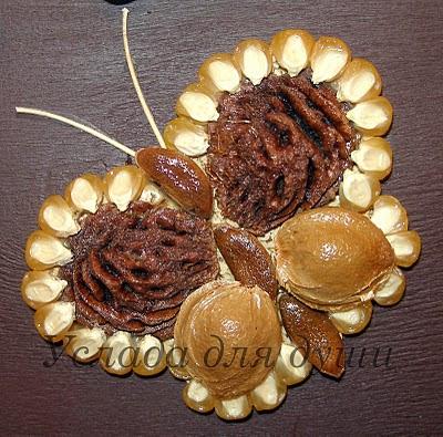 Поделка из природного материала тыквенный семечки