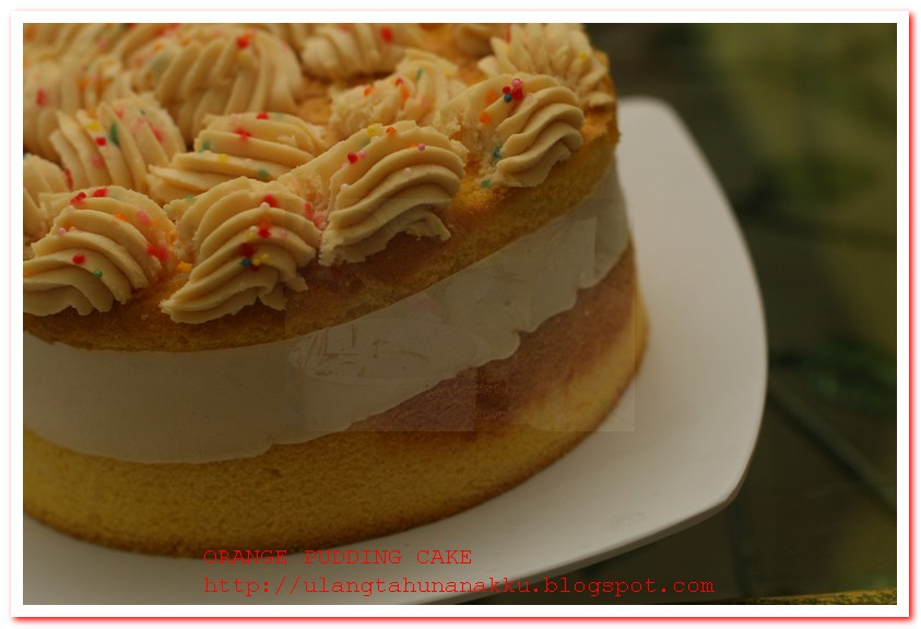 orange pudding cake for 400th POSTING!!