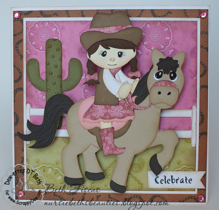 Beths Beauties Cowgirl Birthday Card