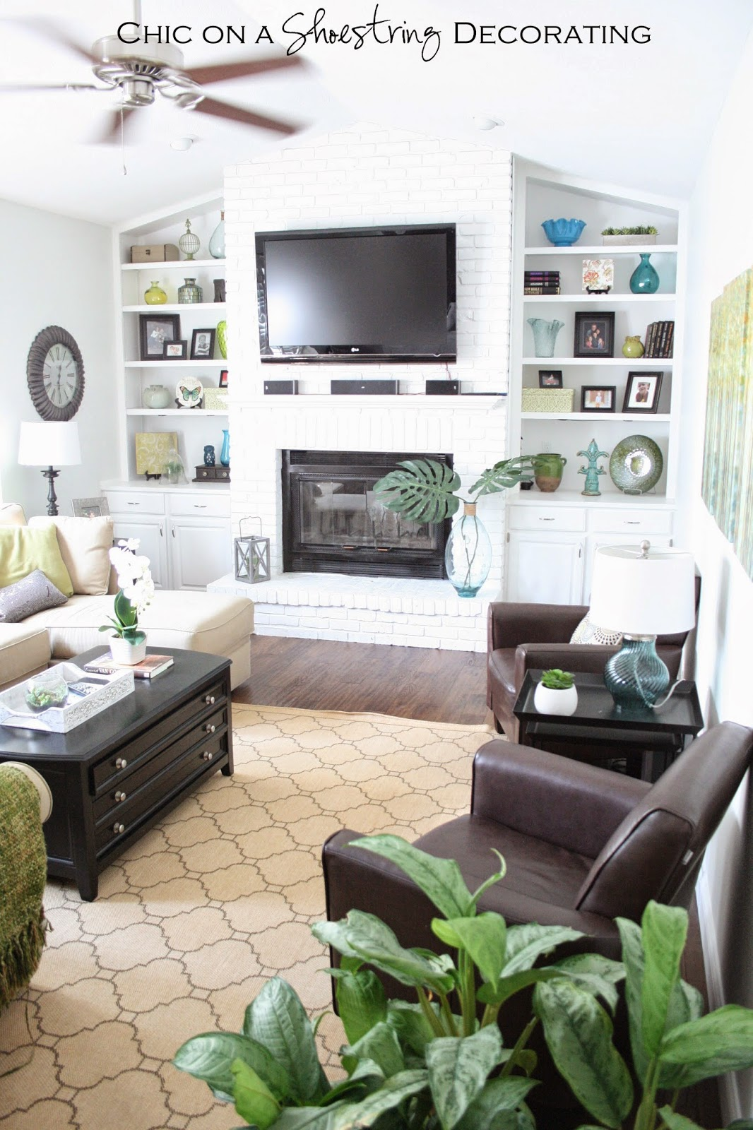 Chic on a shoestring decorating client living room for Living room makeover
