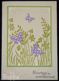 Sympathy Card made using Stampin' Up!'s Just Believe Stamp Set by Bekka www.feeling-crafty.co.uk
