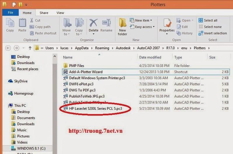 loi-khong-thay-may-in-mang-trong-autocad-2007-windows-7-8