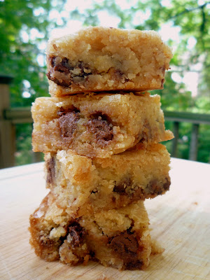 ... Baking in the Barbershop?!: Chocolate Chip Graham Cracker Blondies