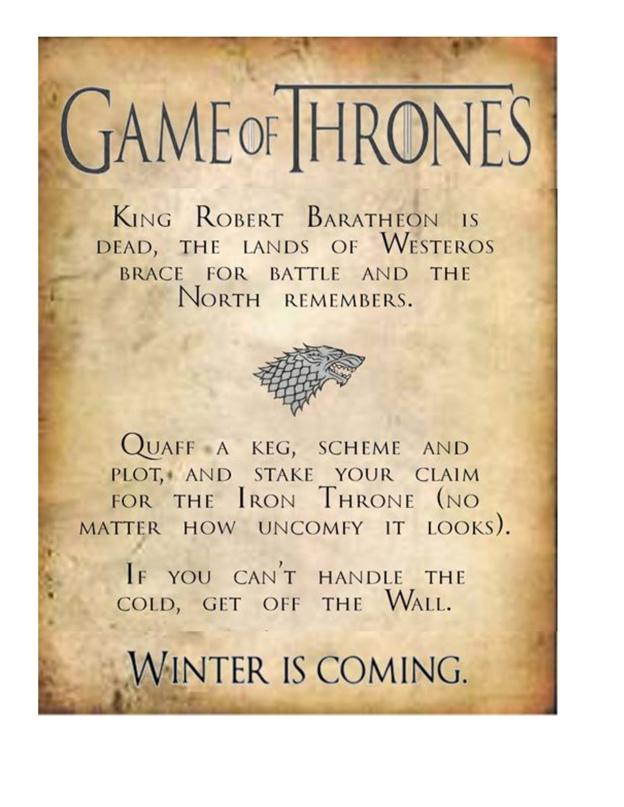 Obsessive Game Of Thrones Party Planning Guide S3pp