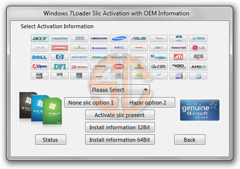 Windows 7 Loader Slic Activation with OEM Information Release 5
