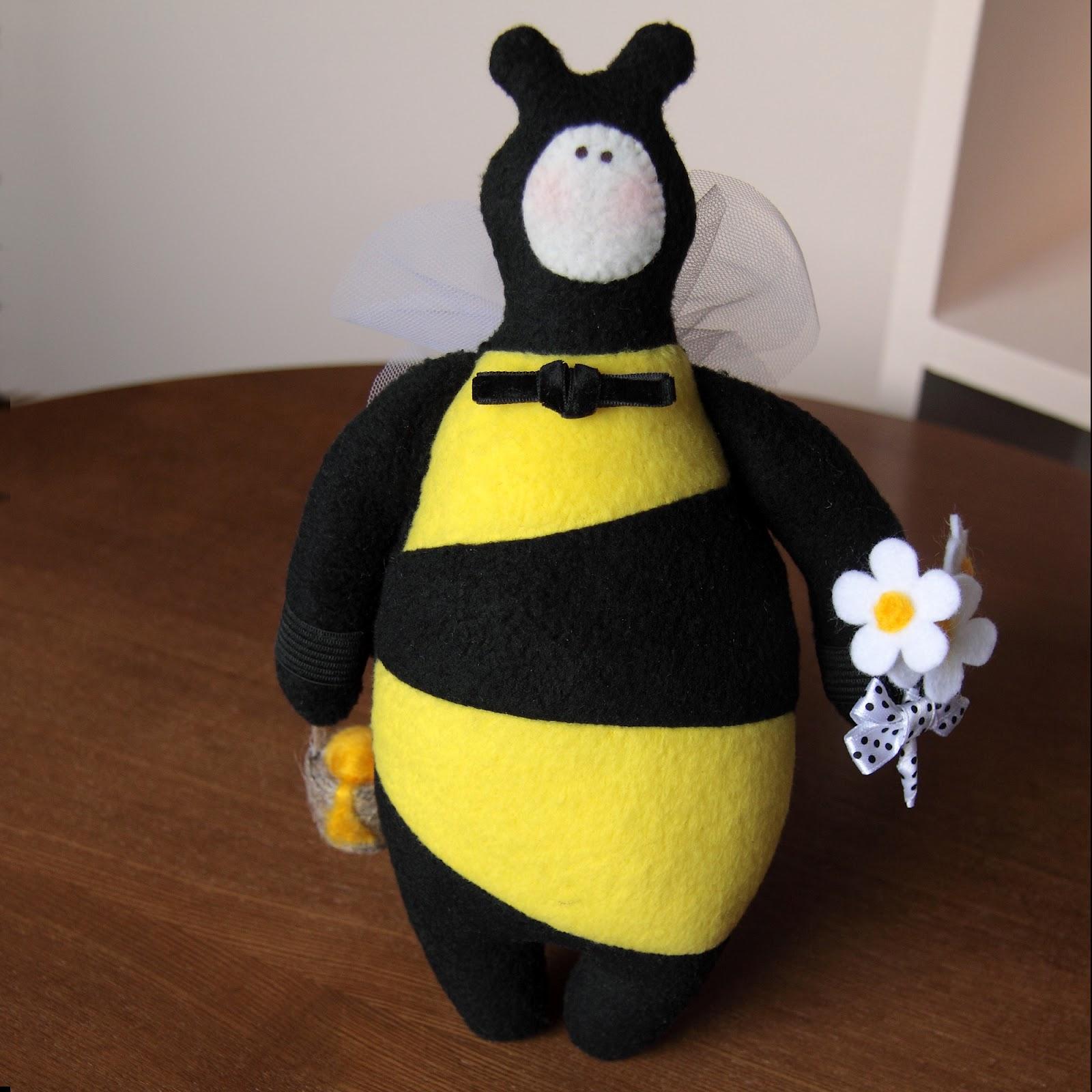 Мягкая игрушка пчёлка своими руками 52