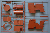 Bandai Steam Traction Engine - The Sprues in detail
